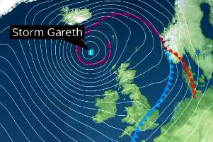 Storm Gareth is due to arrive in Northern Ireland on Tuesday.