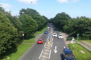 How the A259 at Angmering looked before trees were removed