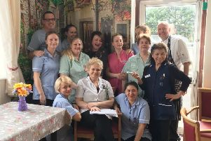 Celebrating a county honour in the care industry, Meadows Edge Care Home, of Wyberton.