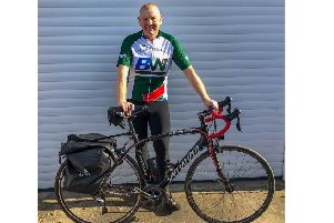 Alan Sharpe has been in training for his four-day cycle challenge.
