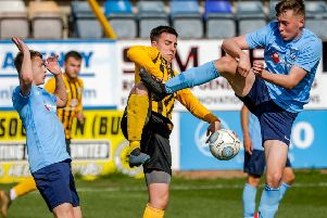 United youngsters in action against Rugby Town. Photo: David Dales.
