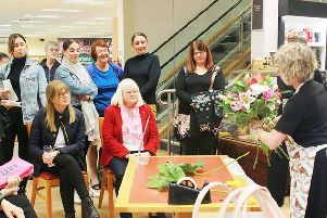 A scene from the Makeover with Mums evening held by Oldrids, which raised hundreds of pounds for the Lincs & Notts Air Ambulance.