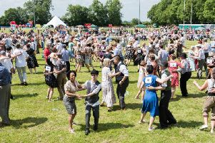 Members of the public take part in a line dance at a previous edition of the Bucks Armed Forces Day