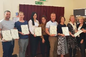 Winners of the Lindfield Preservation Society's Conservation and Design Awards are presented with their certificates