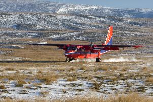 A BN2B-26 Islander made by Britten-Norman in the Falklands