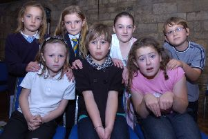 Boston's Children's Theatre members, pictured, back, from left, Jasmine Lawrence, nine, Kitty Hooper, nine, Ellie Smith, nine, Edward Proctor, eight; front, Katie Frost, nine, Megan Beaumont, nine, Georgia Wright, nine.