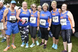 Just a handful of the 120 or so Tone Zone Runners who took part in the race / Picture by Liz Pearce