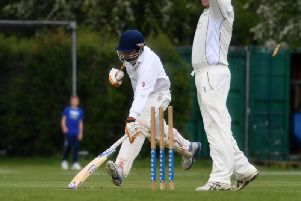 Eaton Brays Paul Harris is run out as North Crawley cruised to victory.