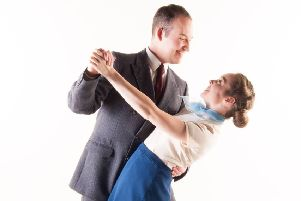 Cameron Rowell as Don Lockwood and Emily Falkner as Kathy Selden