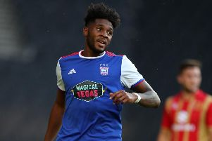 Ipswich Town forward Ellis Harrison. Picture: Catherine Ivill/Getty Images
