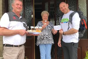 Alan Hyntes from Rectory CAG, Arlene McKeown and Big Lunch walker Rory Mullan