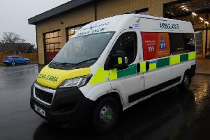 One of the Urgent Care Ambulances praised by the CQC report. EMN-190716-170441001