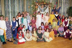 Year Five and Six pupils at Wyberton Primary School are pictured 20 years ago as they prepare to stage their version of William Shakespeare's popular fantasy comedy, A Midsummer Night's Dream.