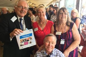 Worthing West MP Sir Peter Bottomley with parish nurse Julie Ward, centre, her husband Charlie and Jenny Bingham, one of Julie's volunteers