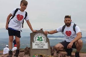 Billy and Rikky during their three peak fundraiser in memory of Billy's father, Greg.