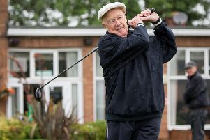 Hedley Wilson, 90, the oldest player in Rugby Golf Club's annual past captains' fixture