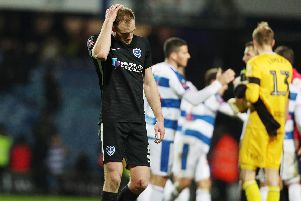 Matt Clarke reflects on Pompey FA Cup defeat in their last visit to Loftus Road - in February. Picture: Joe Pepler