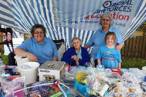 Four generations raised 200 for RAFA at Skegness carnival.