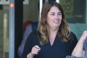 Donna-Maria Thomas appeared at Worthing Magistrates' Court today