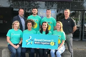 Antrim GAA is encouraging sport clubs  to sign up to Bowel Cancer UK's Walk Together event on Saturday