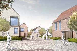 An artist's impression of new homes for the Northern Arc in Burgess Hill. 'Picture: AECOM