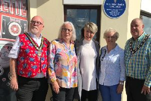 (Left to right) Mayor of Bognor Regis Phil Woodall, Sylvia Endacott, Jacquie Butlin, Shirley Lewis and the mayor's consort Steve Hearn
