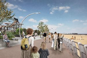 Artist's impression of one of the projects identified for Skegness by East Lindsey District Council in the  Foreshore Masterplan, work on part of which is due to begin this autumn. It is now hoped more of the vision can be achieved.