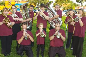 Kirton Youth Brass Band, newly formed this time of year in 2009.