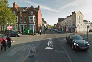 The cyclist and car crashed on Kettering Road at the junctions with St Michael's Avenue and Cowper Street. Photo: Google