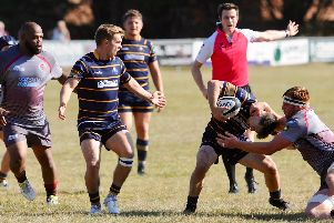 Action from Worthing Raiders v Taunton Titans