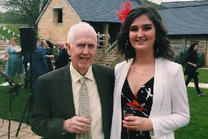 Molly Andrews, of Boston, pictured with her late grandad Leo Wesley.