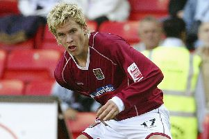 Steve Morison in his Cobblers days...