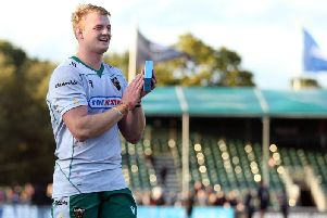 David Ribbans scored as Saints beat Saracens on his 50th competitive appearance in Northampton colours