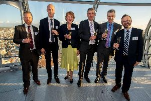 Rampion project team and partners at grand opening of Rampion Offshore Wind Farm held at BAi360