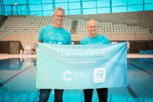 Mark Foster and Duncan Goodhew launch Swimathon 2019