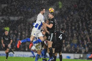 Shane Duffy attacks a set-piece. Picture by PW Sporting Photography