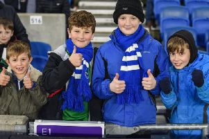 Brighton fans pictured at the Amex for Saturday's Premier League match against Burnley. Picture by PW Sporting Photography