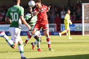Romain Vincelot in action for Crawley