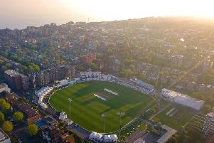 An aerial photograph of the ground (Credit: @HugoHealy)