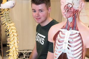 Adam Meehan, 18, is now in the final year of his course at NWRC