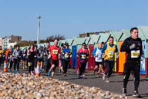Runners taking part in the Brighton Half Marathon
