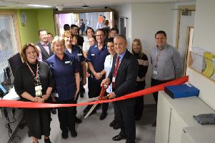 The ribbon-cutting ceremony at the new ward