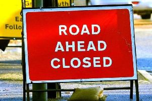 The B2109 Drove Road in Newhaven has been closed both ways