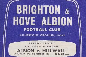The matchday programme when Brighton played Millwall in 1956