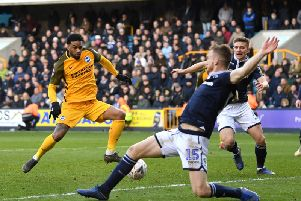 Jurgen Locadia in action at Millwall on Sunday. Picture by Mike Hewitt / Getty Images