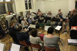 Mid Sussex Brass Band in rehearsals