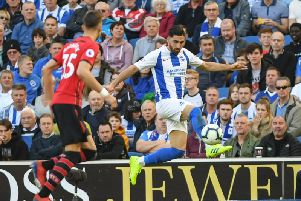 Alireza Jahanbakhsh in action against Southampton. Picture by PW Sporting Photography