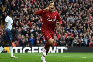 Roberto Firmino. Picture by PW Sporting Photography