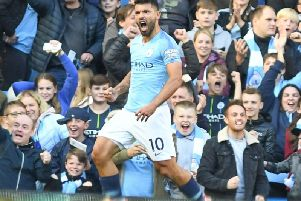 Sergio Aguero. Picture by PW Sporting Photography