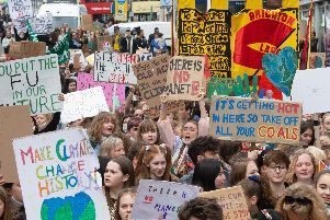 The climate march in Brighton